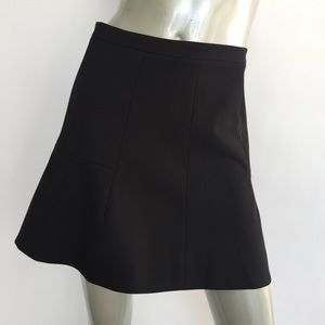J Crew Fluted Skirt Sz 0 in Double Crepe 03394